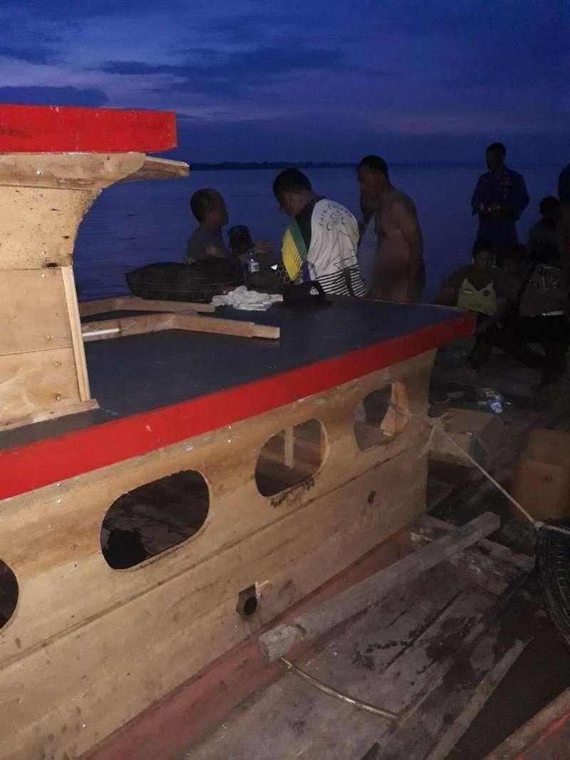 Tabrak Tunggul Kayu, Kapal Kapolres Labuhan Batu Sumut Tenggelam