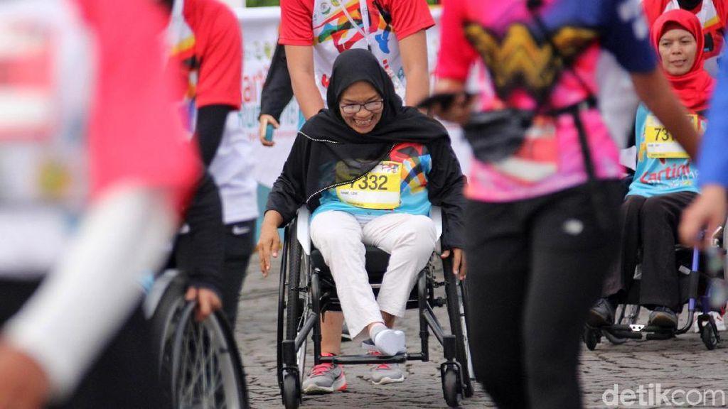 Antusias Para Penyandang disabilitas di Kartini Run 2018