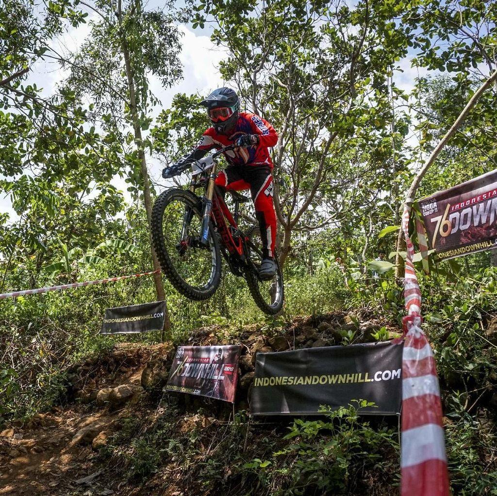 Trek Licin di Indonesian Downhill Bantul, Ateng Mulyadi Juaranya