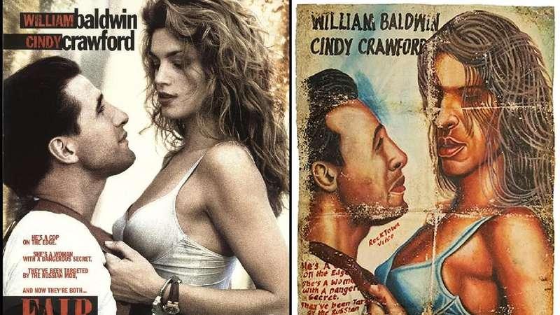 Deretan Poster Film Jadul yang Dilukis Tangan di Afrika