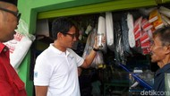 Saat Sandiaga Beli Ikan Cupang untuk Putranya Sulaiman