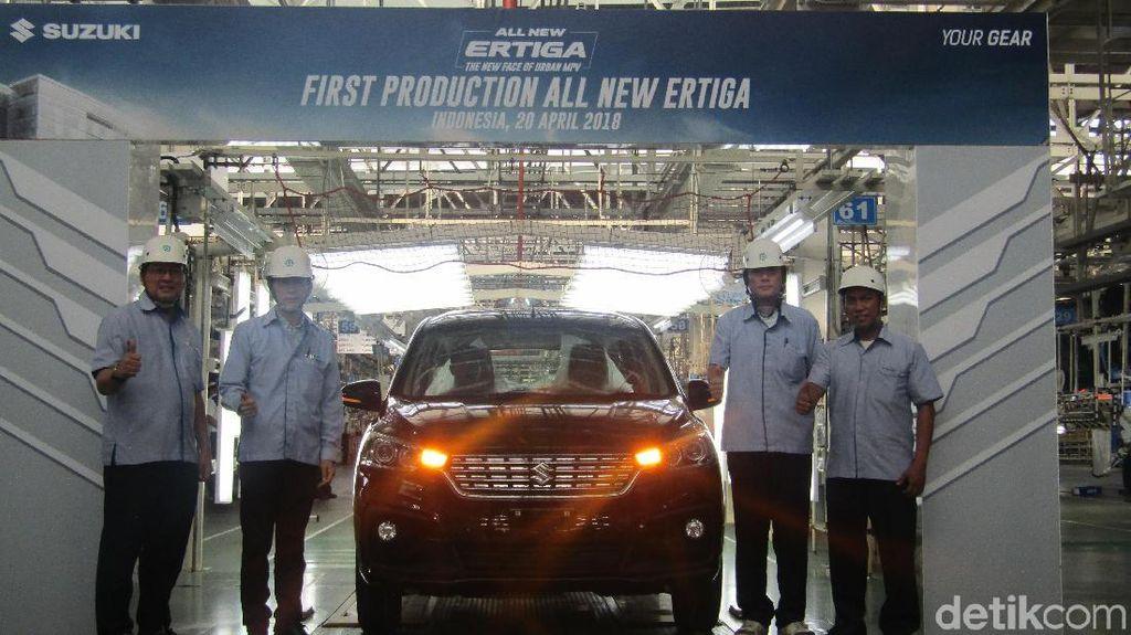 Mengintip Produksi Pertama Suzuki Ertiga Terbaru di Cikarang