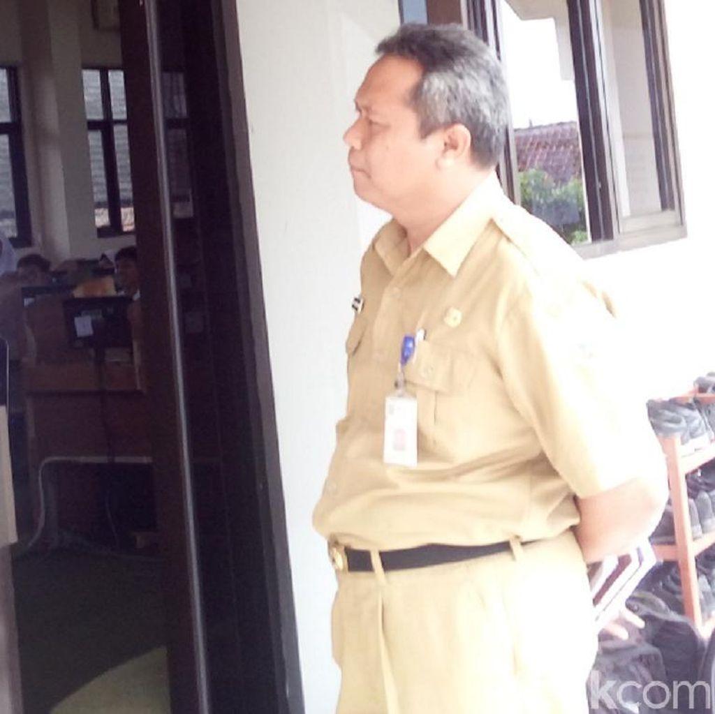 UNBK di SMP 1 Ungaran, Semarang juga Molor 1 Jam