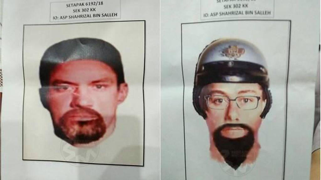 Malaysia Rilis Sketsa Wajah 2 Pembunuh Profesor Palestina