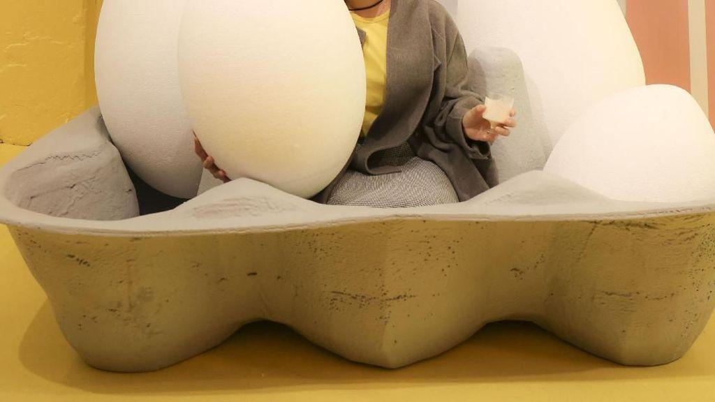 Wouw! Di Tempat Ini Bisa Bermain dengan Telur Sepuasnya