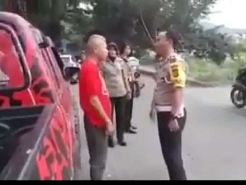 Viral Ketua PDIP Bima Bentak Polisi Saat Ditilang
