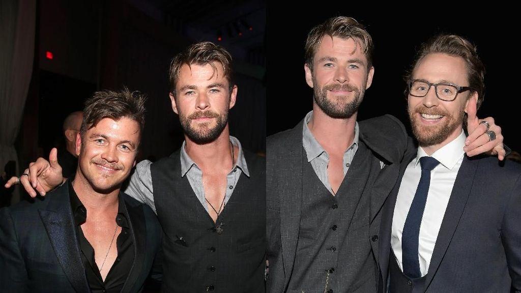 Adik Kandung dan Tiri Chris Hemsworth di Premier Infinity War