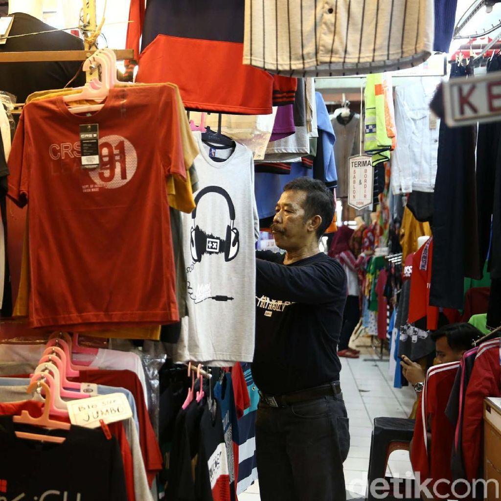 Akan Direlokasi, Begini Suasana di Pasar Blok G Tanah Abang