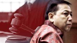 Divonis 15 Tahun Penjara, Novanto Lesu, Istrinya Menahan Tangis