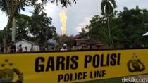 Api Masih Menyembur di Lokasi Sumur Minyak Ilegal di Aceh Timur