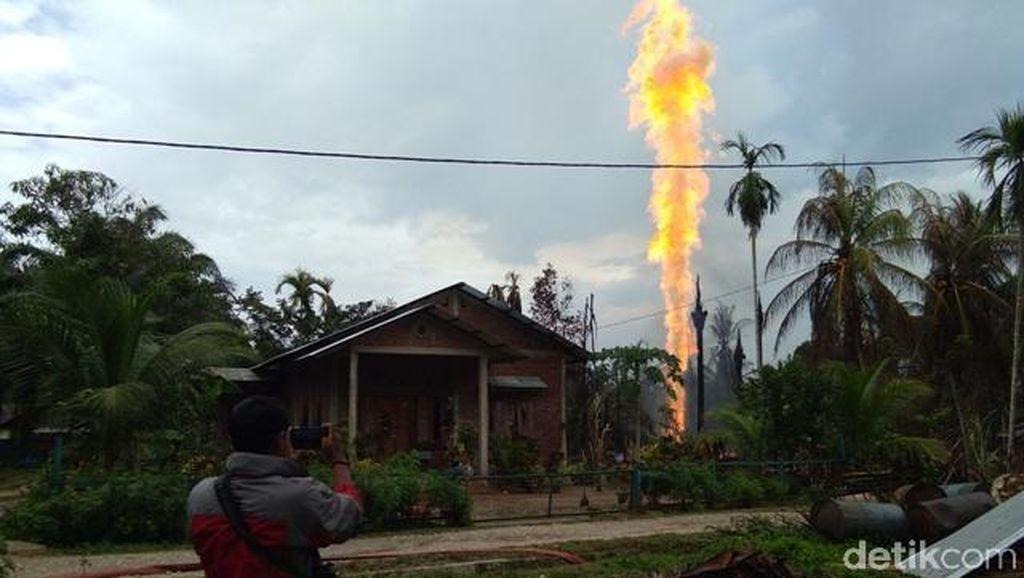 Api Ledakan Sumur Minyak di Aceh Timur Padam Setelah 27 Jam