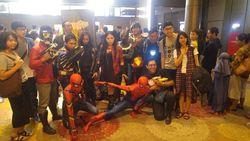 Ketika Superhero Marvel Ikut Nonton Infinity War di Semarang