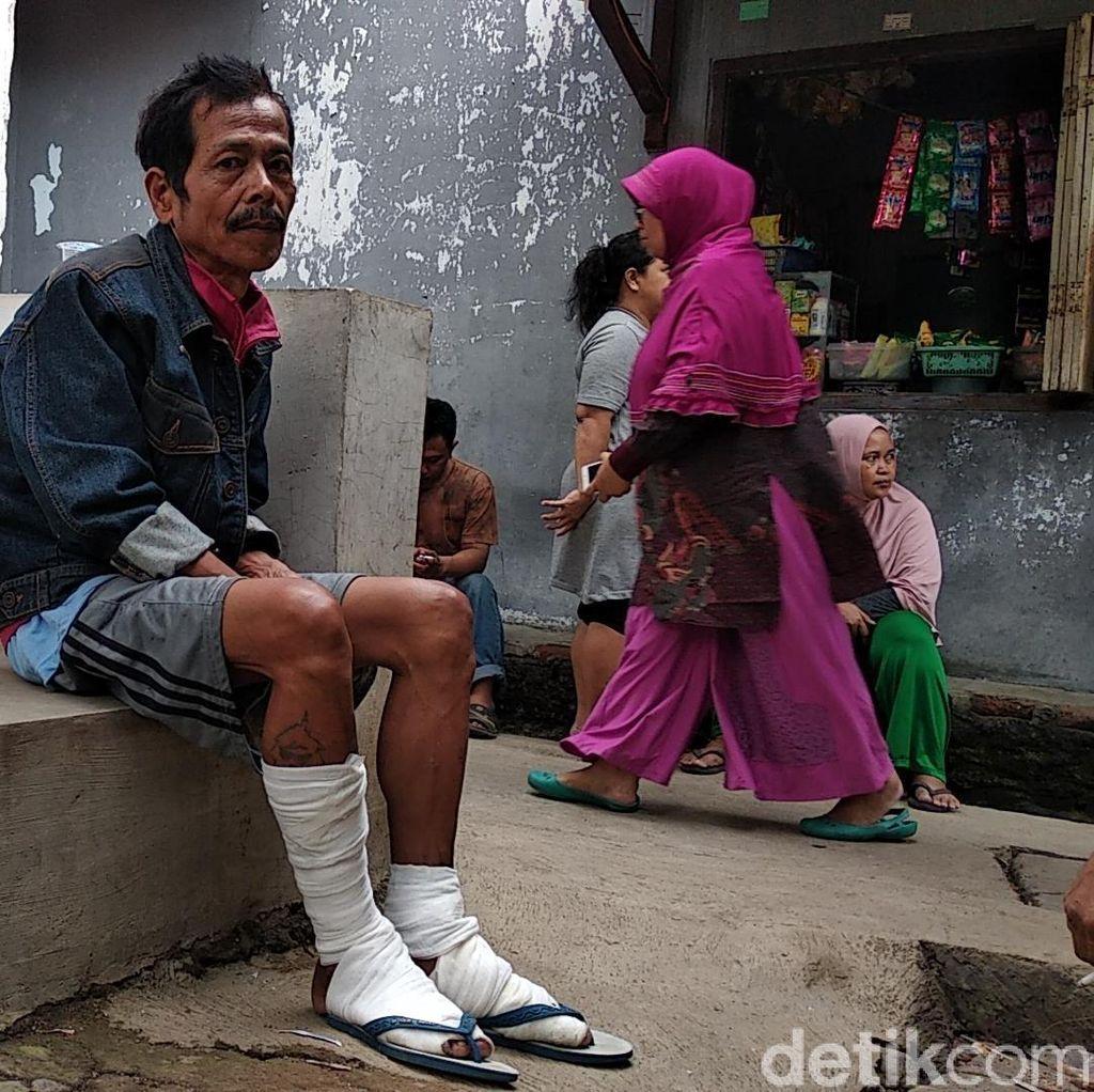 Cerita Horor Korban Luka Ledakan Gas Melon Bandung