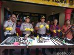 Polisi Tangkap 3 Orang Pembuat Senpi Rakitan di Banyuasin