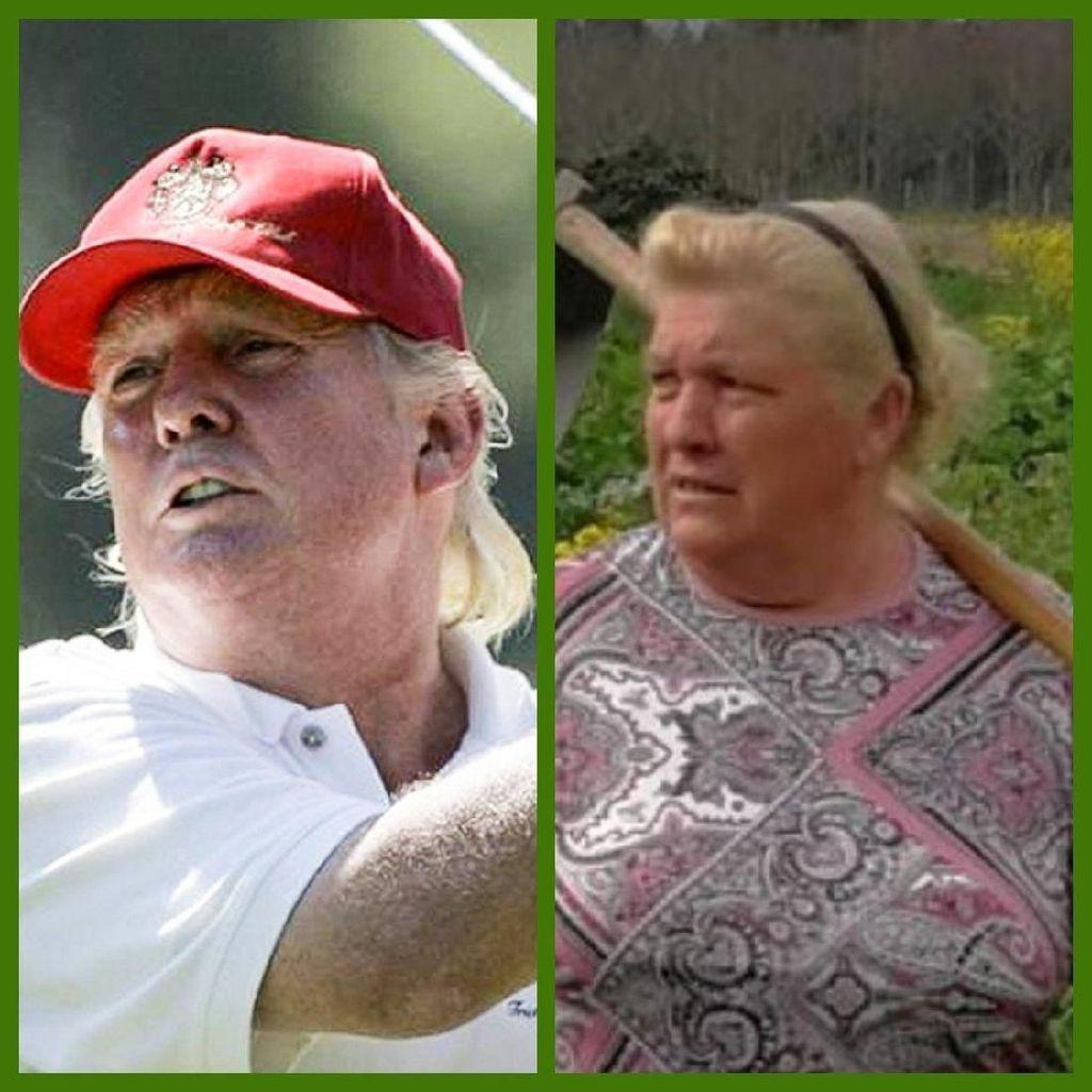 Foto: Bagai Pinang Dibelah Dua, Ini Wanita yang Disebut Mirip Trump