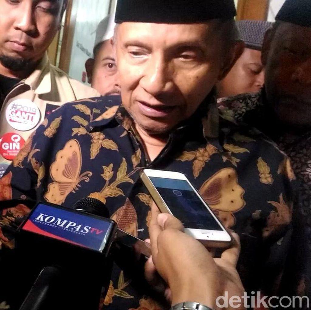Temui PA 212, Amien Rais Bahas Soal Pertemuan dengan Jokowi