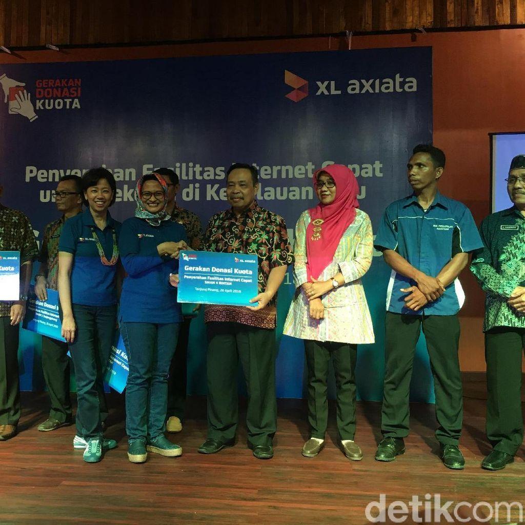 Pelanggan XL Setahun Sumbang Kuota 195 TB ke Sekolah