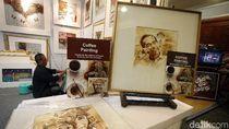Keren, Lukisan Jokowi Ini Terbuat dari Ampas Kopi