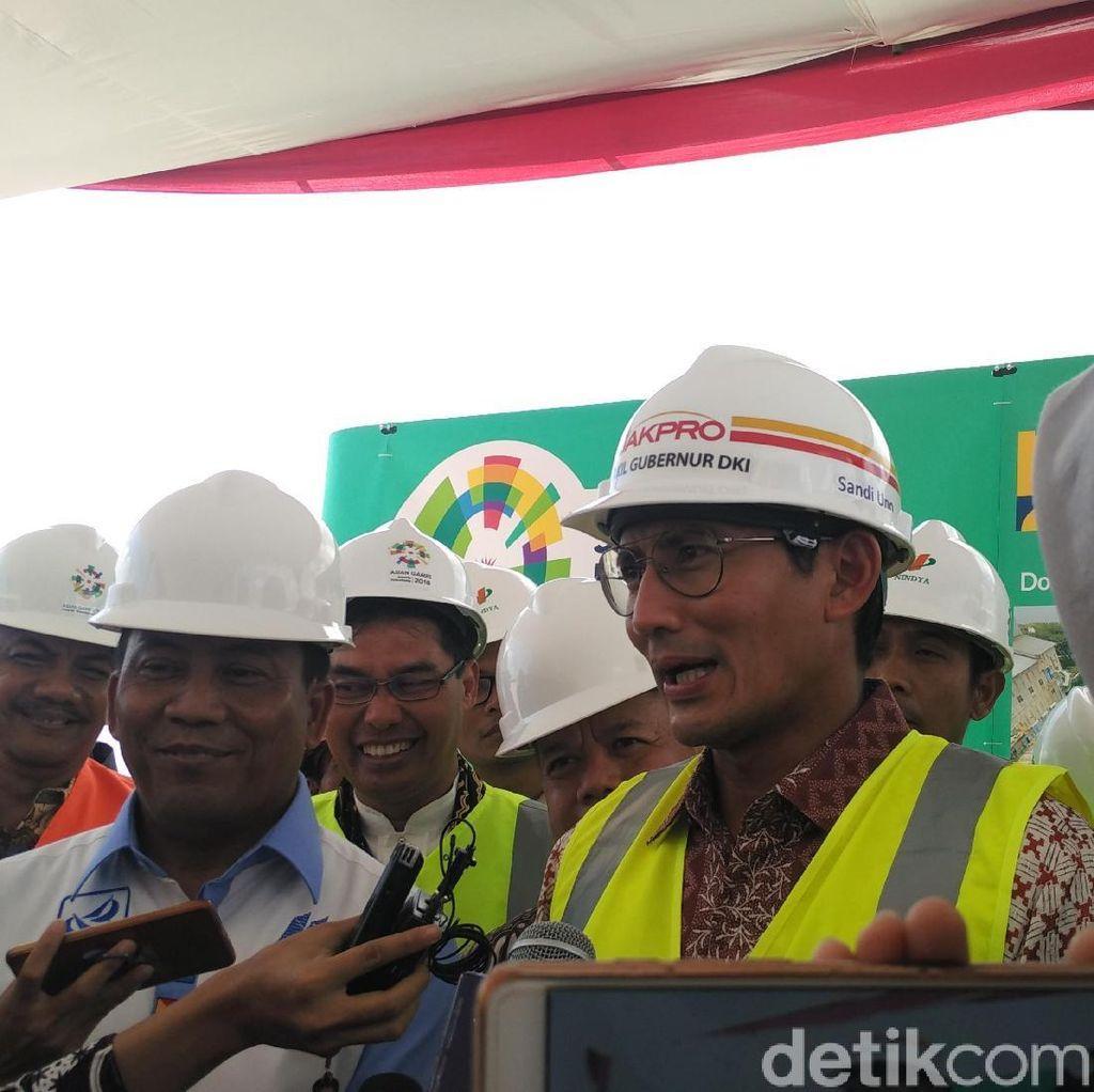 Sandiaga Pastikan Venue Asian Games Rampung Tepat Waktu
