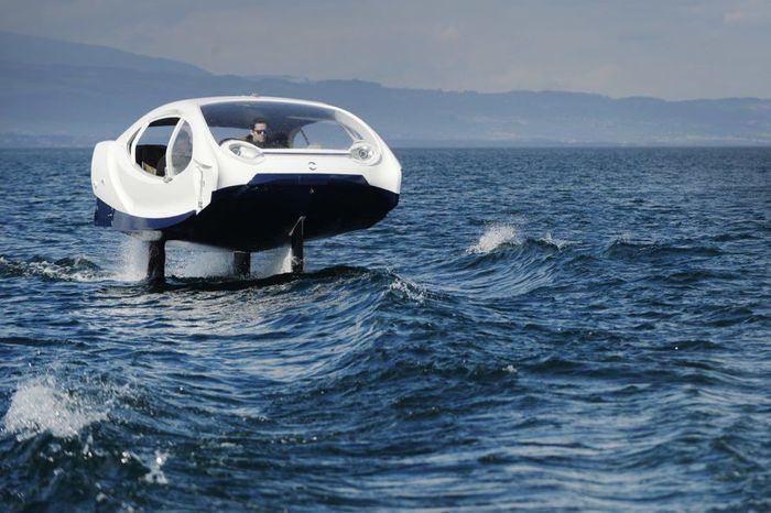 Kendaraan ini telah diujicoba untuk melaju dengan lancar dan aman di atas air. Inhabitat/Istimewa.