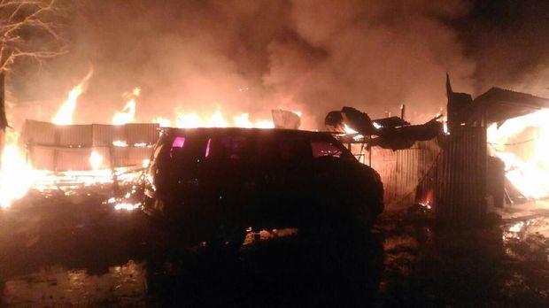 Kontrakan di Gambir Terbakar Karena Kompor Gas, Tak Ada Korban Jiwa