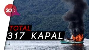 Momen Epik Menteri Susi Tenggelamkan Kapal Ikan Ilegal