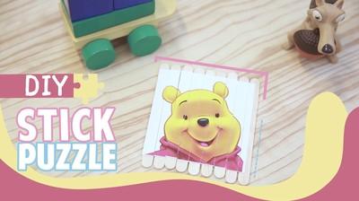 Mudahnya Membuat Puzzle dari Stik Es Krim