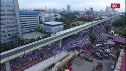 Seperti ini Demo FPI di Mabes Polri Dilihat dari Udara