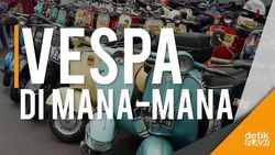 Mabuk Vespa di Indonesia Scooter Festival