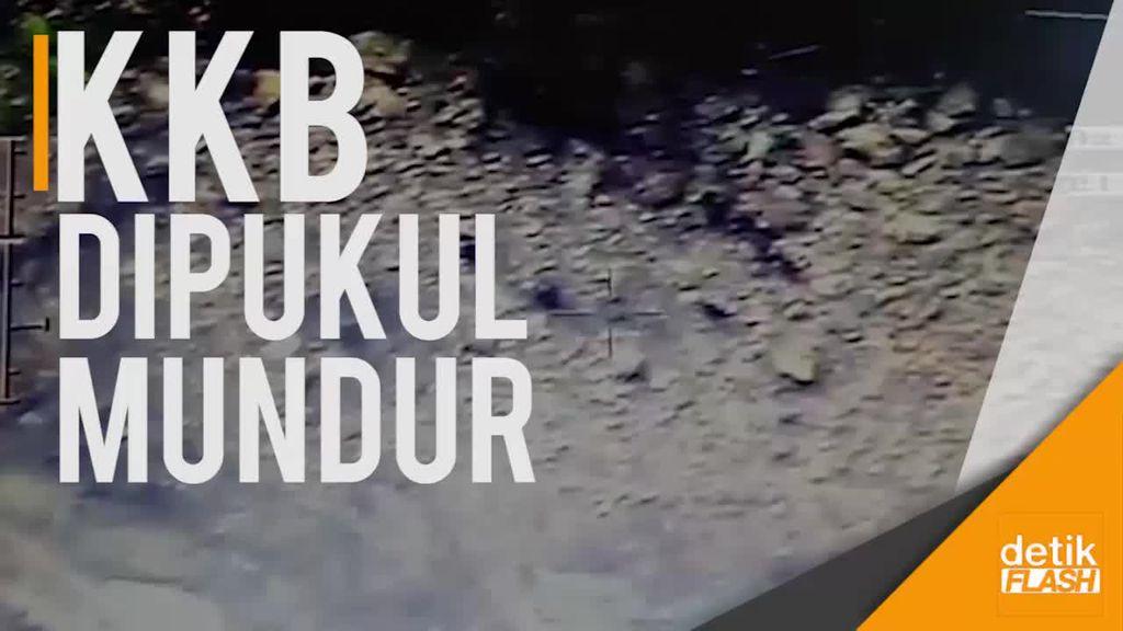 Dari Lensa Drone, Ini Video Saat KKB Dipukul Mundur TNI-Polri