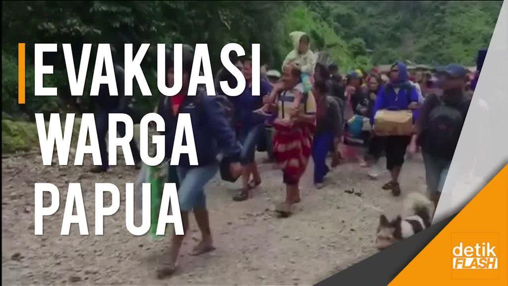 Suara Tembakan Saat Proses Evakuasi Warga di Papua