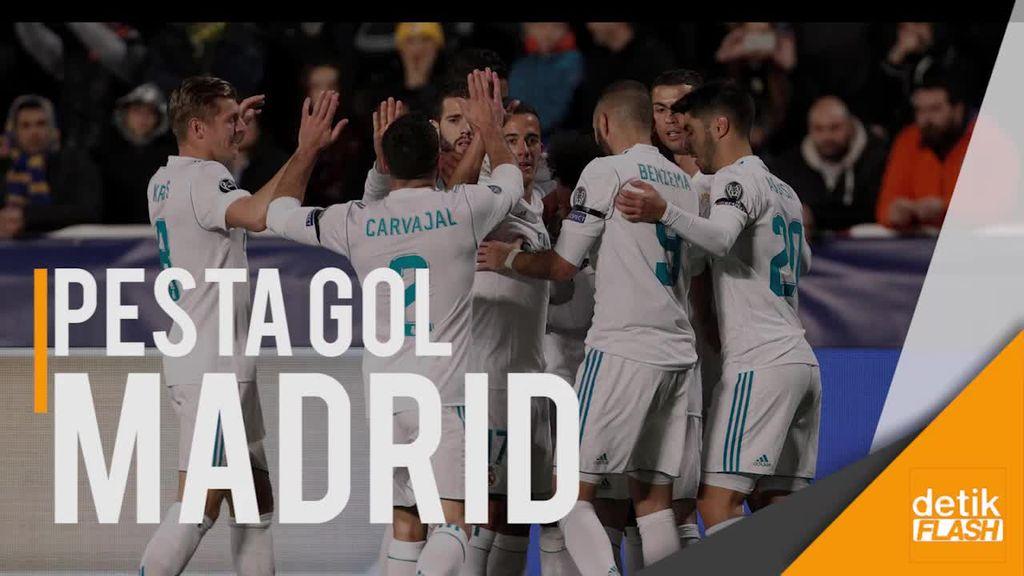 Pesta 6 Gol, Madrid Lolos 16 Besar Liga Champions