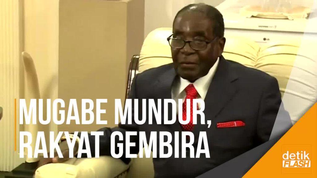 Presiden Zimbabwe Robert Mugabe Mundur, Rakyat Bersukacita