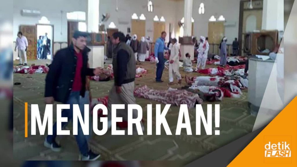 Suasana Horor Usai Bom di Masjid Mesir yang Tewaskan Ratusan Orang