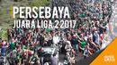Konvoi Puluhan Ribu Bonek Sambut Trofi Juara Persebaya