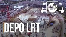 Melihat Luasnya Depo LRT Kelapa Gading