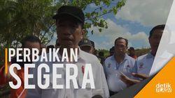 Blusukan di Kawasan Bencana, Jokowi Pastikan Korban Bencana Ditangani