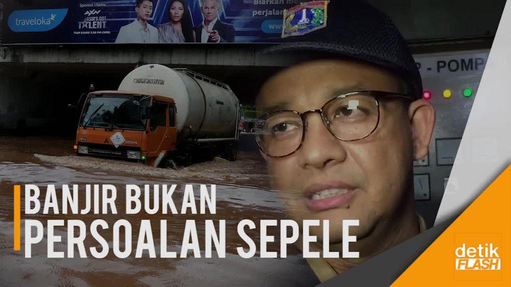 Anies Bakal Tindak Tegas Petugas yang Tak Responsif soal Banjir!