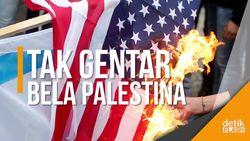 Beringas, Massa Bakar Poster Trump dan Netanyahu!