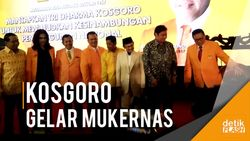 Ketua Dewan Kehormatan Golkar BJ Habibie Hadiri Mukernas Kosgoro