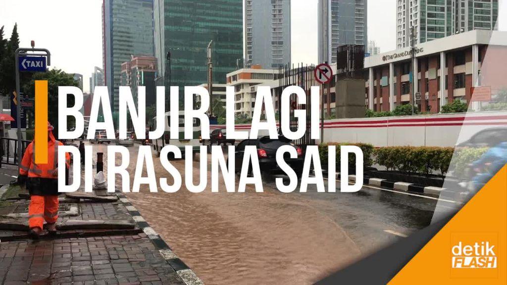 Hujan Singkat Guyur Jakarta, Jalan Rasuna Said Tergenang