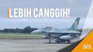 Wuz! Empat Pesawat Tempur F-16 C Tiba di Lanud Iswahjudi