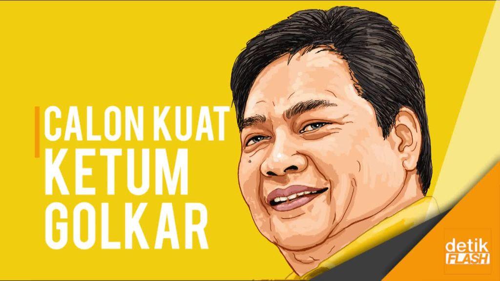 Masuk Bursa Caketum Golkar, Airlangga Didukung DPD I dan Kosgoro