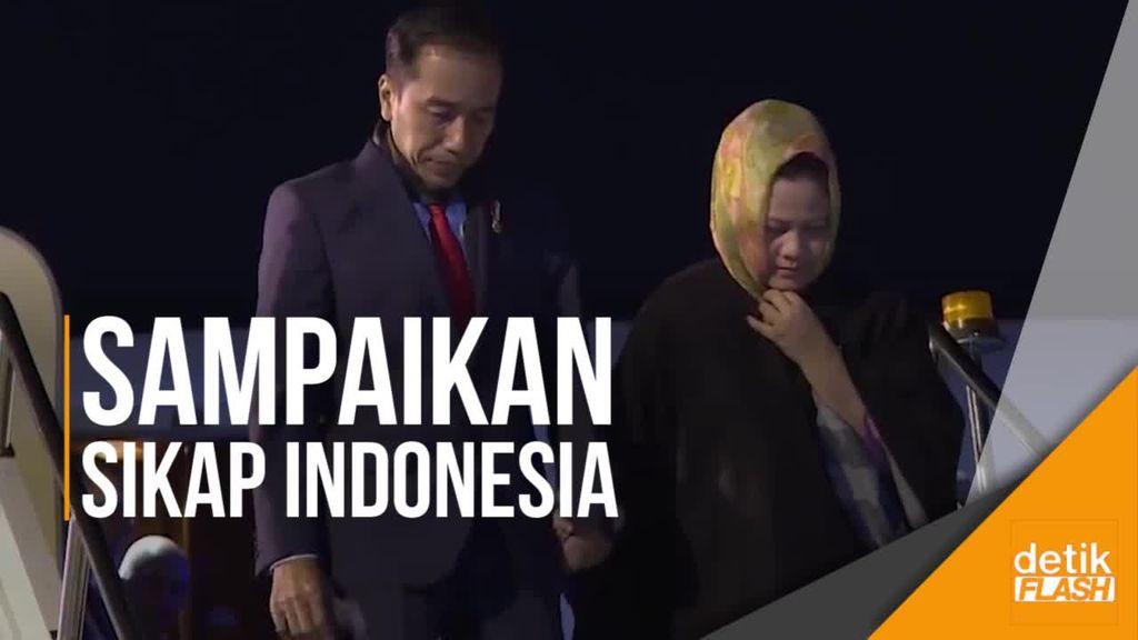 Tiba di Turki, Jokowi Siap Bahas Palestina di KTT Luar Biasa OKI
