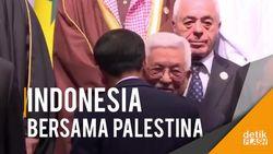 Momen Cipika-cipiki Jokowi dan Presiden Palestina di KTT OKI