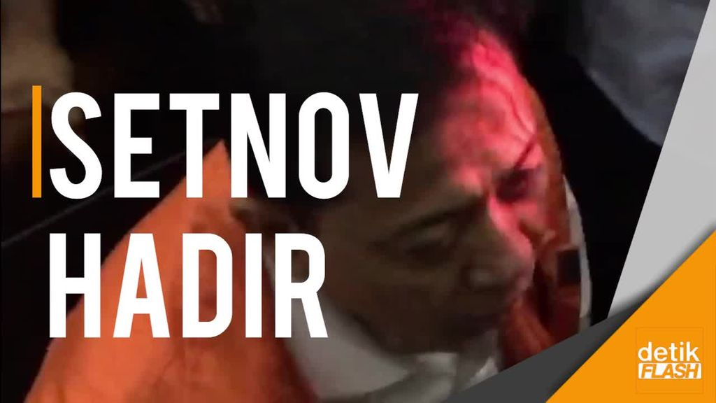 Setnov Hadiri Sidang Perdana Pembacaan Dakwaan Kasusnya