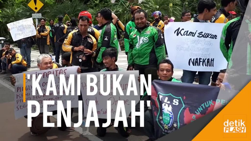 Driver Ojol di Surabaya Demo, Desak Diterbitkannya Payung Hukum