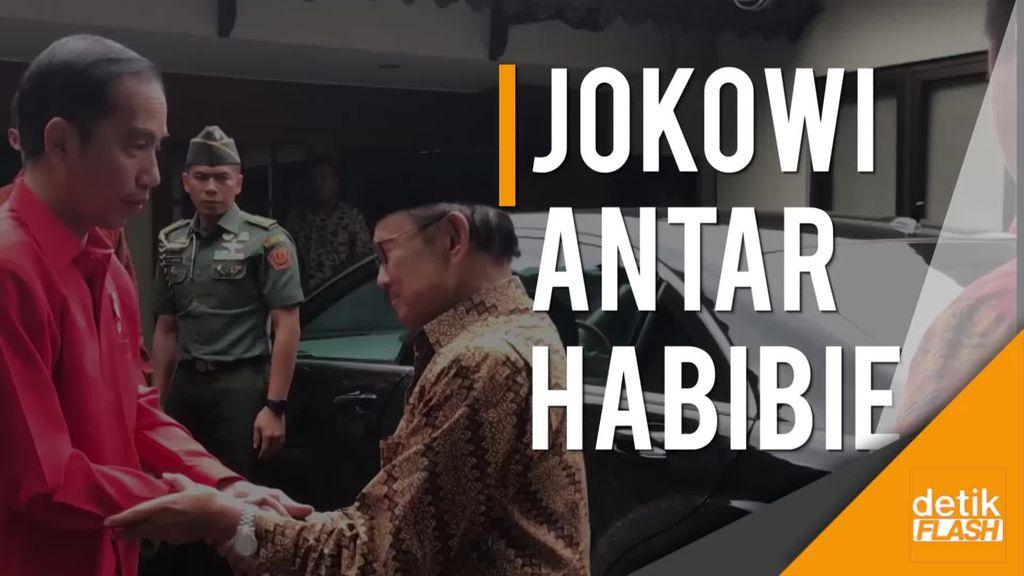 Dari Tangerang, Jokowi Sempatkan Antar Pak Habibie ke Kediamannya