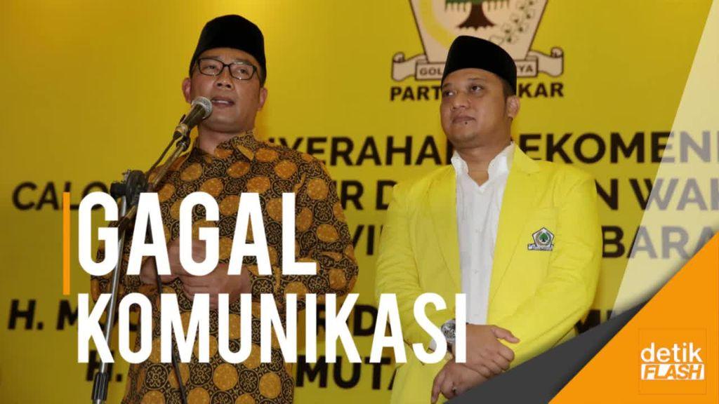 Golkar Cabut Dukungan ke Ridwan Kamil