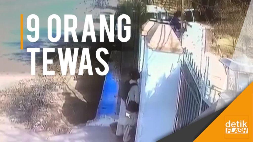 Rekaman CCTV Teror Bom Gereja di Pakistan
